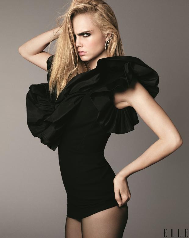 US Elle September 2016 : Cara Delevingne by Terry Tsiolis