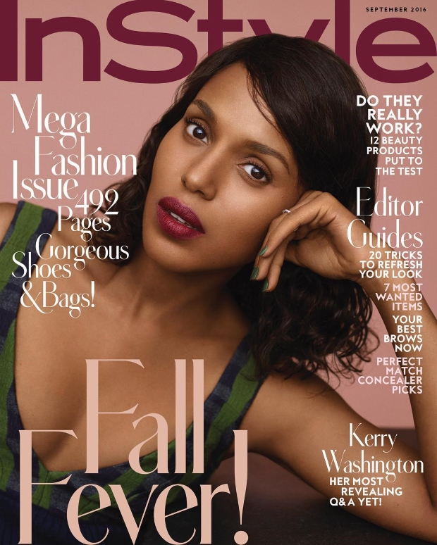 US InStyle September 2016 : Kerry Washington by Thomas Whiteside