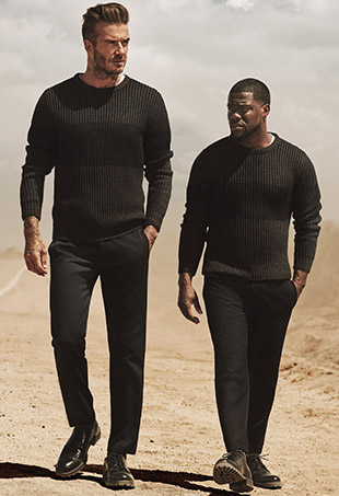 David Beckham and Kevin Hart reunite for a road trip in the new H&M campaign.