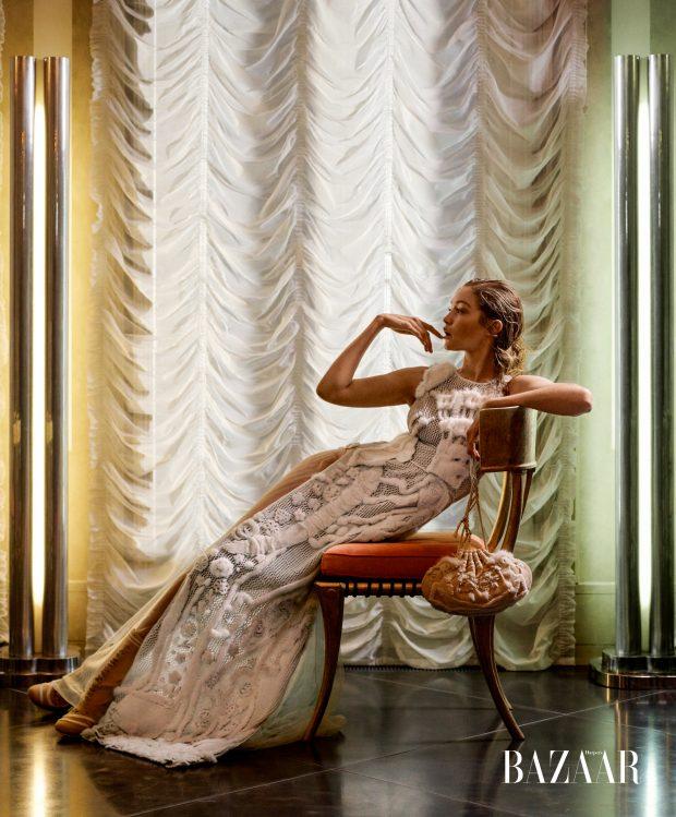 Gigi Hadid for Harper's Bazaar November 2016.