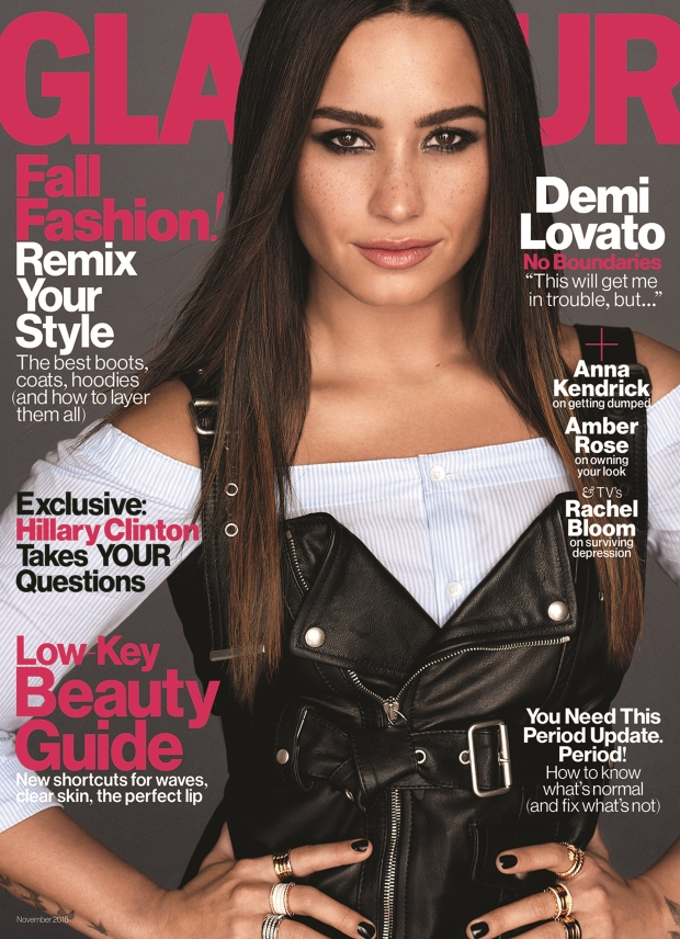 US Glamour November 2016 : Demi Lovato by Carter Smith