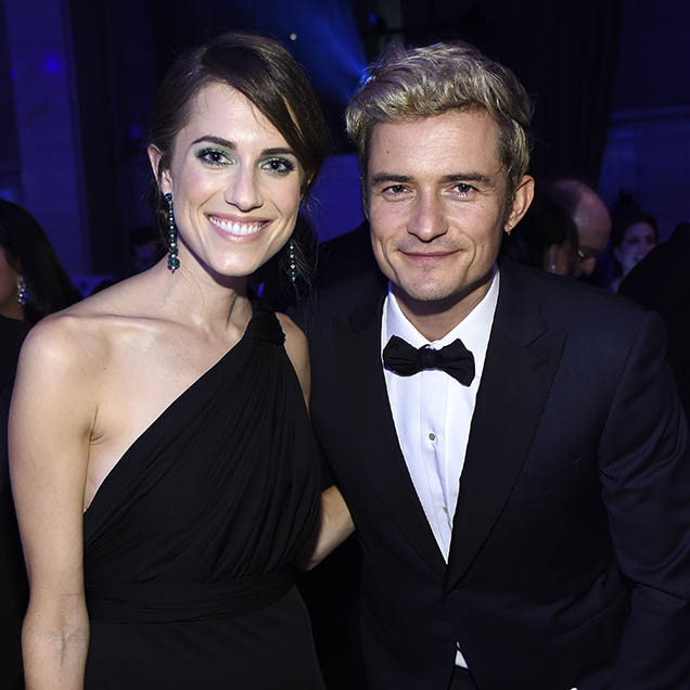 Allison Williams and Orlando Bloom at the 12th annual UNICEF Snowflake Ball.