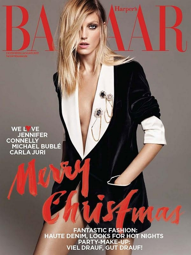 Harper's Bazaar Germany December 2016 / January 2017 : Anja Rubik by Terry Tsiolis