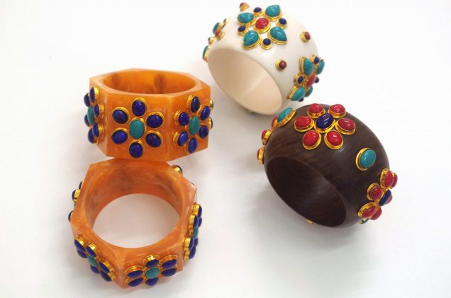 Rings from Iris Apfel's trunk show.
