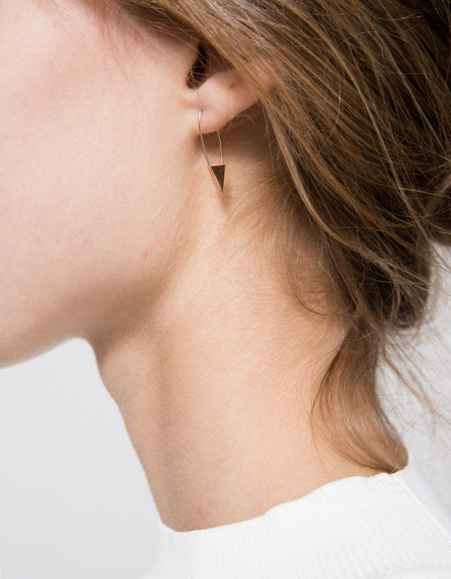 Loren Stewart Triangle Safety Pin Single Earring, $132 at Need Supply.