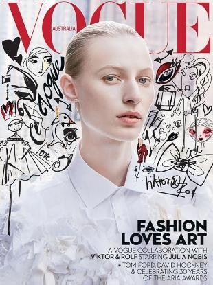 Vogue Australia December 2016 : Julia Nobis by Daniel Jackson