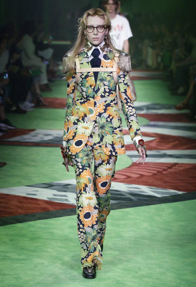 Greenery at Gucci Spring 2017; Image: Gucci