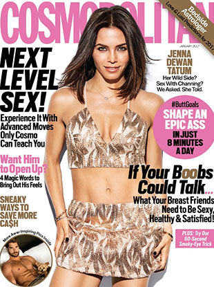 Cosmo's January 2017 cover.