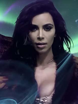 Kim Kardashian West seduces in the latest installation of LOVE magazine's annual advent calendar.