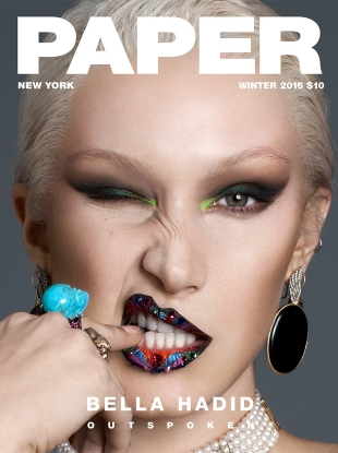 Paper Winter 2016 : Bella Hadid by Nicolas Moore