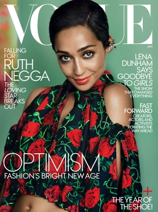 US Vogue January 2017 : Ruth Negga by Mario Testino