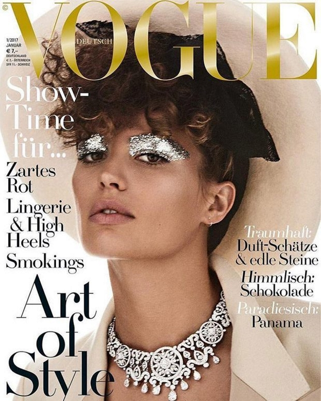 Vogue Germany January 2017 : Cameron Russell by Giampaolo Sgura