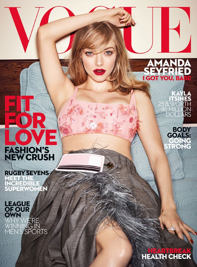 Vogue Australia February 2017 : Amanda Seyfried by Emma Summerton