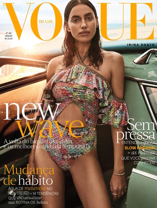 Vogue Brazil January 2017 : Irina Shayk by Giampaolo Sgura
