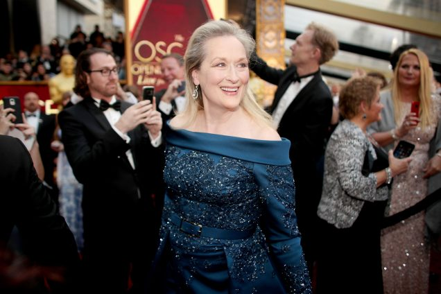 Merly Streep in Elie Saab at the 89th Annual Academy Awards; Image: Christopher Polk/Getty Images