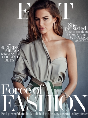 The Edit by Net-a-Porter February 23 2017 Cameron Rusell by Victor Demarchelier