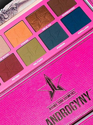 The Jeffree Star Cosmetics Androgyny Palette (gender non-binary beauty products FTW) launches March 4 at 10 a.m. EST.