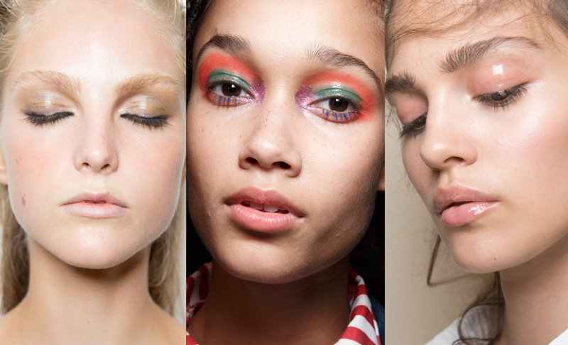 Glossy lids on the runway at Altuzarra Spring 2017, House of Holland Fall 2017, Stella Jean Spring 2017