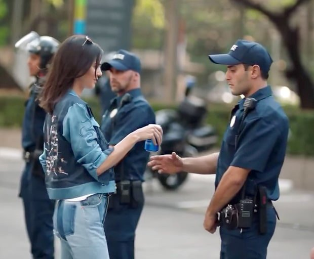Screen Shot, Pepsi Ad with Kendall Jenner