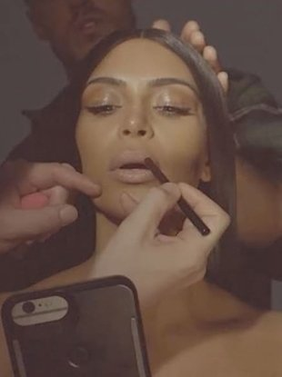 "A Kim Kardashian West x Kylie Cosmetics collaboration is ""coming soon."""