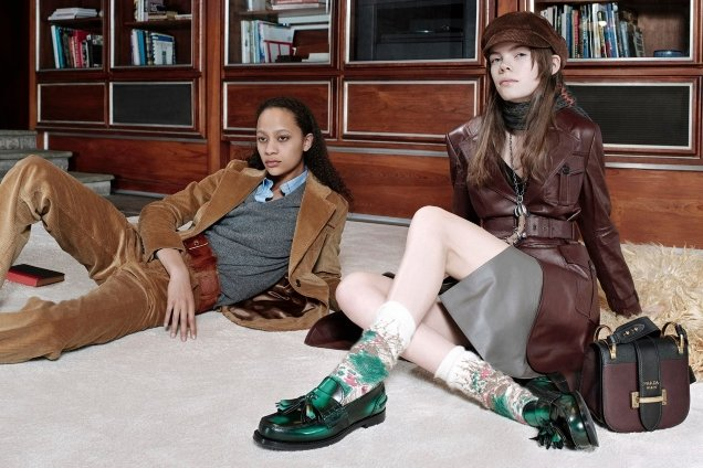 Prada Pre-Fall 2017 : Kris, Nina & Selena by Willy Vanderperre