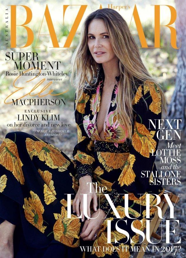 Harper's Bazaar Australia June/July 2017 : Elle Macpherson by Nick Leary
