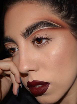 """Makeup artist Alexa Link is the visionary behind """"brow carving."""""""