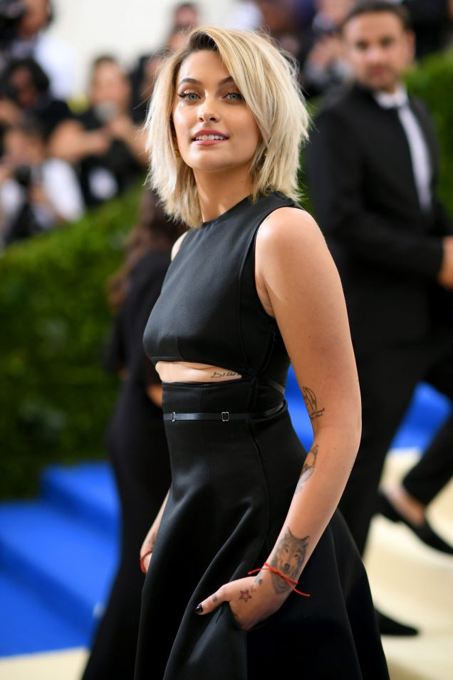 Paris Jackson attends the 2017 Met Gala in Calvin Klein by Appointment.