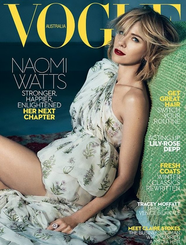 Vogue Australia June 2017 : Naomi Watts by Emma Summerton