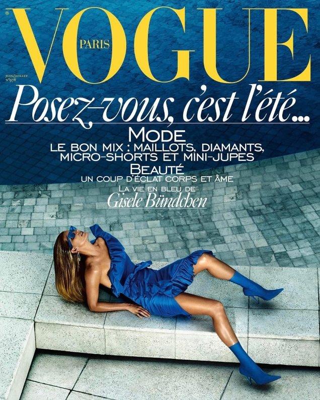 Vogue Paris June/July 2017 : Gisele Bündchen by Mario Testino