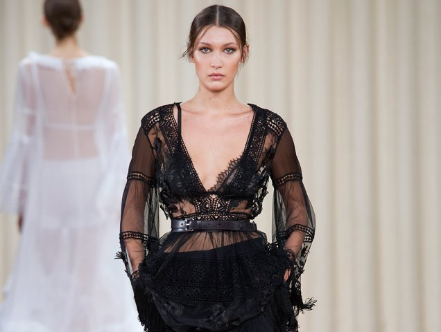 ffec9cda2bd99 How to wear a bralette worn by Bella Hadid on the Alberta Ferretti Runway