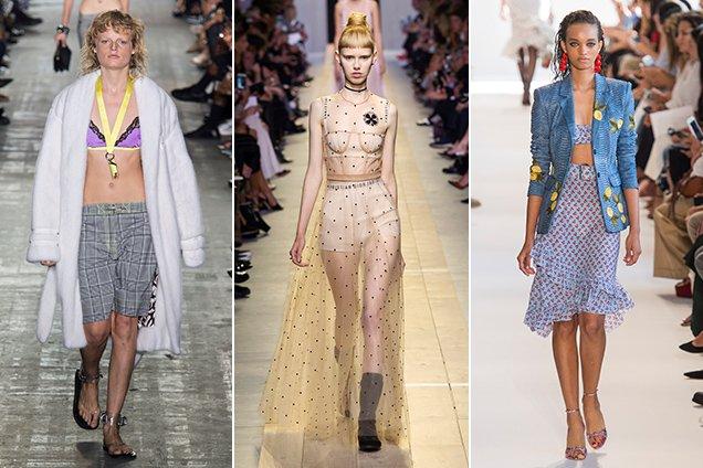 Alexander Wang Spring 2017, Christian Dior Spring 2017, Altuzarra Spring 2017 runway looks showing how to wear a bralette