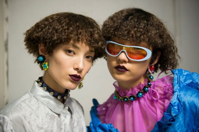 Models backstage at Kenzo's Spring 2018 presentation; Image: Imaxtree