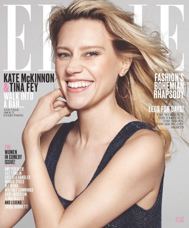 US Elle July 2017 : Kate McKinnon by Paola Kudacki