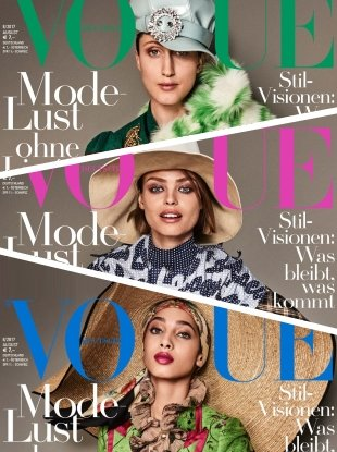 Vogue Germany August 2017 : Yasmin, Anna & Birgit by Giampaolo Sgura
