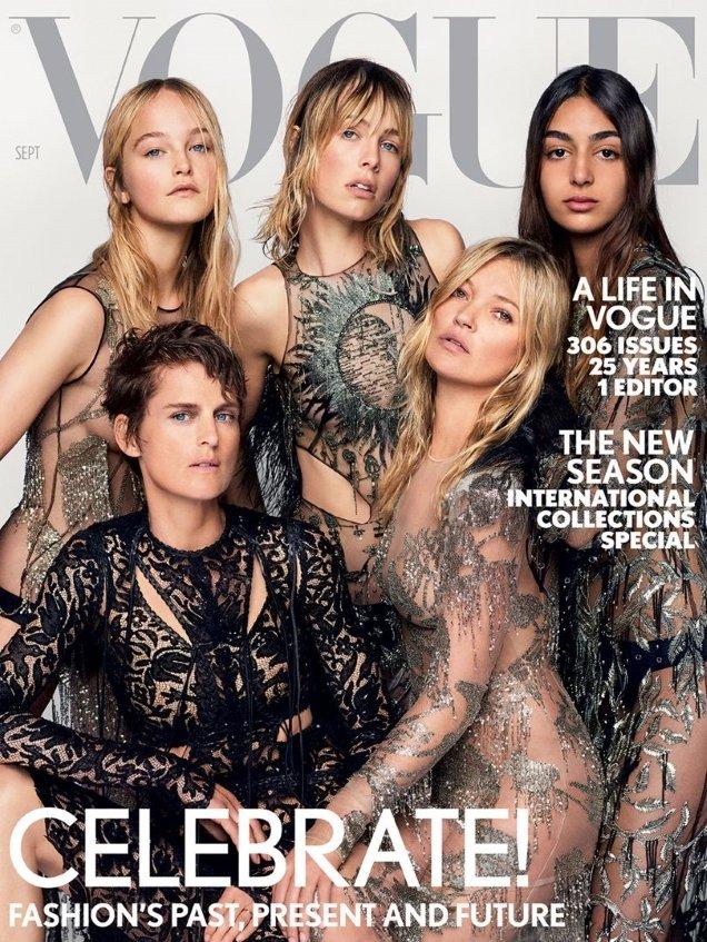 UK Vogue September 2017 : Kate, Stella, Edie, Jean & Nora by Mario Testino