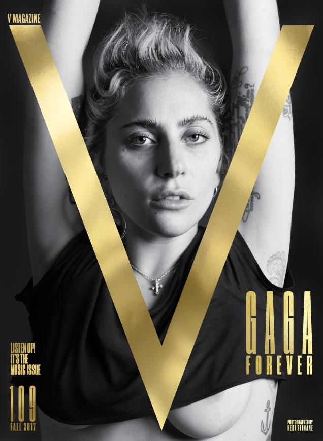 V Magazine #109 Fall 2017 : Lady Gaga by Hedi Slimane