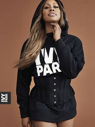 "Laverne Cox, Karen McDonald, Grace Bol and Ralph Souffrant star in Ivy Park's Fall 2017 ""Strong Beyond Measure"" campaign."