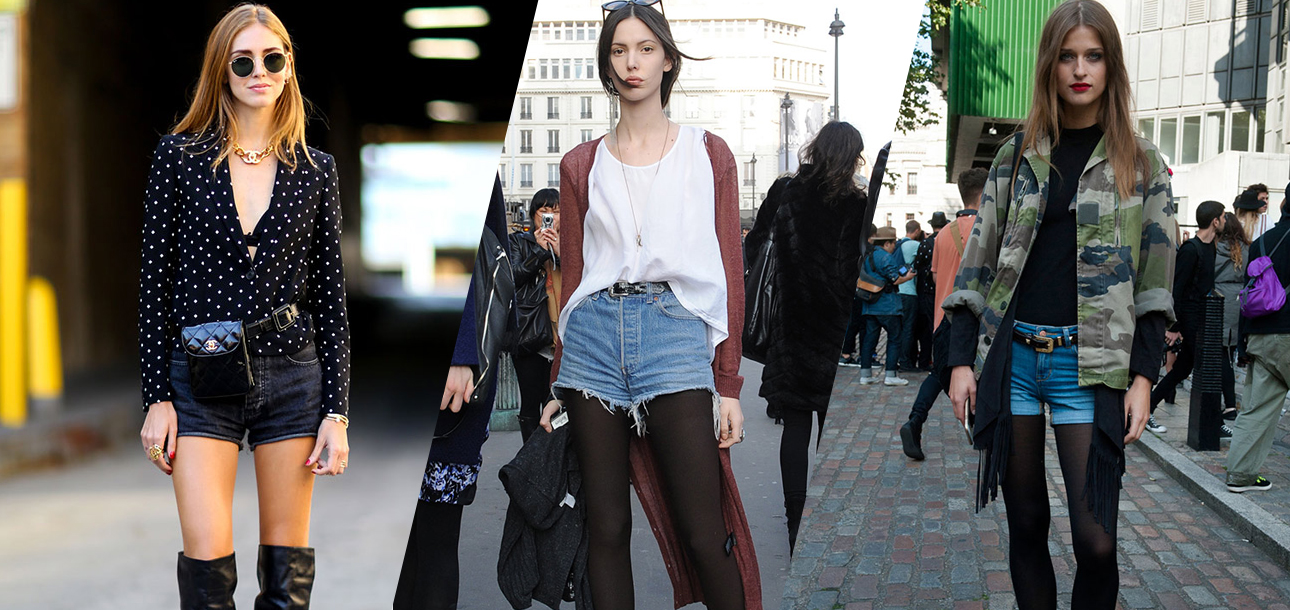 5136854eaf How to Wear Jean Shorts in the Fall Without Freezing Your Butt Off -  theFashionSpot