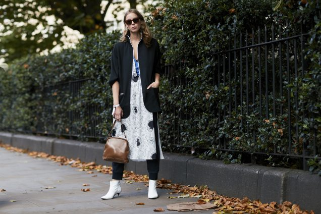 street style: dresses over pants