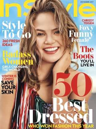 US InStyle November 2017 : Chrissy Teigen by Carter Smith