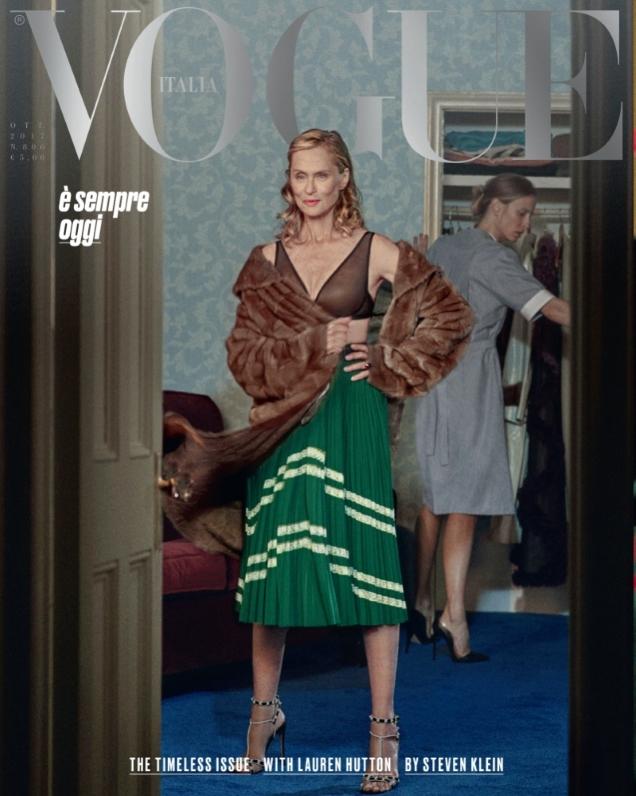 Vogue Italia October 2017 : Lauren Hutton by Steven Klein