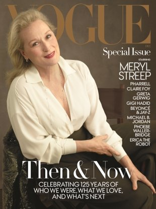 US Vogue December 2017 : Meryl Streep by Annie Leibovitz