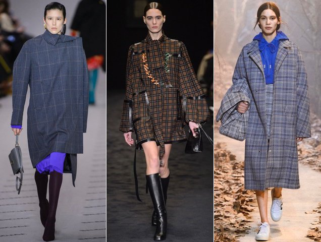 Checks and plaids were the pattern du jour for Fall 2017. Balenciaga Fall 2017, Loewe Fall 2017, Off-White Fall 2017