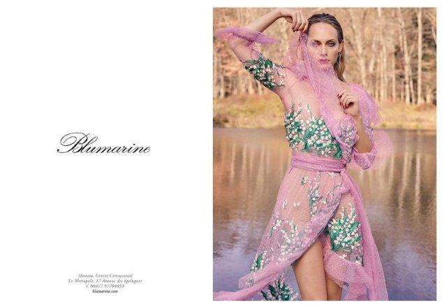Blumarine S/S 2018 : Amber Valletta & Phillip Mayberry by Luigi & Iango
