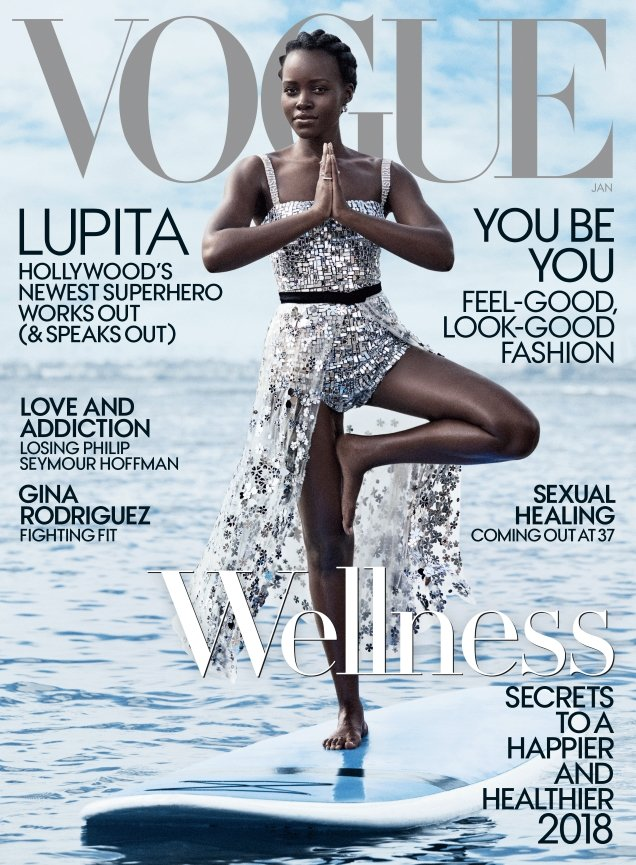 US Vogue January 2018 : Lupita Nyong'o by Mikaeal Jansson