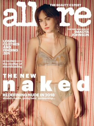 Allure February 2018 : Dakota Johnson by Petra Collins