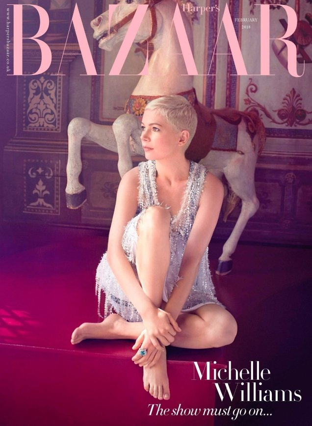 UK Harper's Bazaar February 2018 : Michelle Williams by Agata Pospieszynska