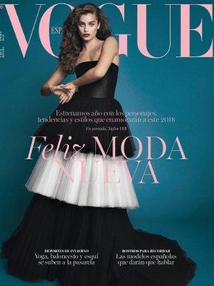 Vogue España January 2018 : Taylor Hill by Bjorn Iooss