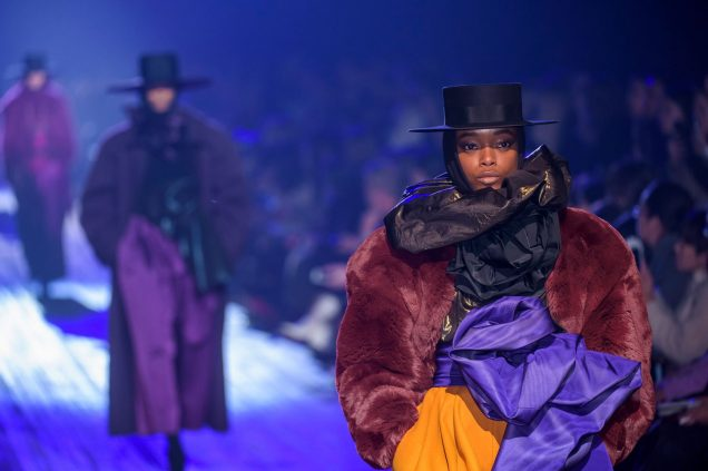 Olivia Anakwe at Marc Jacobs Fall 2018.